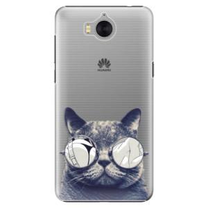 Plastové pouzdro iSaprio Šílená Číča 01 na mobil Huawei Y5 2017 / Y6 2017