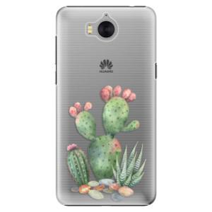 Plastové pouzdro iSaprio Kaktusy 01 na mobil Huawei Y5 2017 / Y6 2017