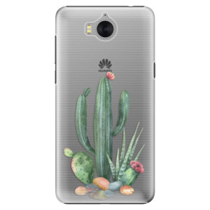Plastové pouzdro iSaprio Kaktusy 02 na mobil Huawei Y5 2017 / Y6 2017