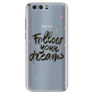 Plastové pouzdro iSaprio Follow Your Dreams černý na mobil Honor 9