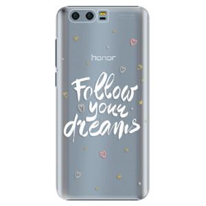 Plastové pouzdro iSaprio Follow Your Dreams bílý na mobil Honor 9
