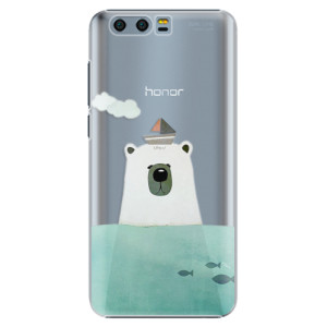 Plastové pouzdro iSaprio Bear With Boat na mobil Huawei Honor 9