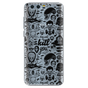 Plastové pouzdro iSaprio Komiks 01 black na mobil Honor 9