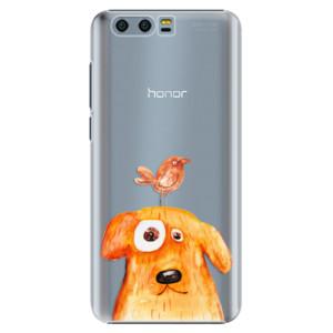 Plastové pouzdro iSaprio Pejsek a Ptáček na mobil Honor 9