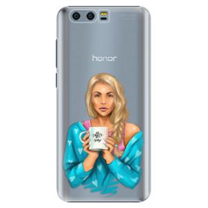 Plastové pouzdro iSaprio Coffee Now Blondýna na mobil Honor 9