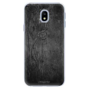 Plastové pouzdro iSaprio black Wood 13 na mobil Samsung Galaxy J3 2017