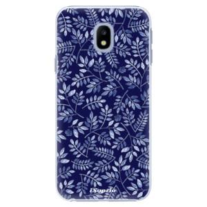 Plastové pouzdro iSaprio Blue Leaves 05 na mobil Samsung Galaxy J3 2017