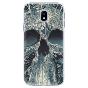 Plastové pouzdro iSaprio Abstract Skull na mobil Samsung Galaxy J3 2017