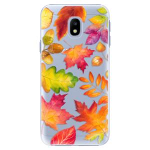 Plastové pouzdro iSaprio Autumn Leaves 01 na mobil Samsung Galaxy J3 2017