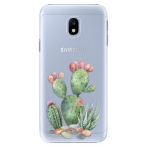 Plastové pouzdro iSaprio Kaktusy 01 na mobil Samsung Galaxy J3 2017