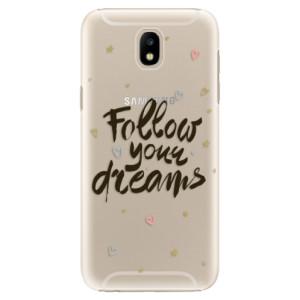 Plastové pouzdro iSaprio Follow Your Dreams černý na mobil Samsung Galaxy J5 2017