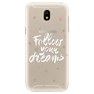 Plastové pouzdro iSaprio Follow Your Dreams bílý na mobil Samsung Galaxy J5 2017