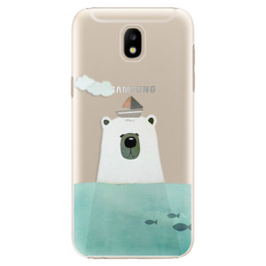 Plastové pouzdro iSaprio Bear With Boat na mobil Samsung Galaxy J5 2017