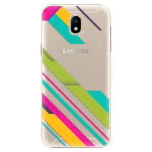 Plastové pouzdro iSaprio Barevné Pruhy 03 na mobil Samsung Galaxy J5 2017