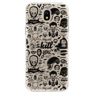 Plastové pouzdro iSaprio Komiks 01 black na mobil Samsung Galaxy J5 2017