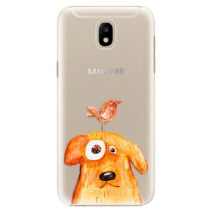Plastové pouzdro iSaprio Pejsek a Ptáček na mobil Samsung Galaxy J5 2017