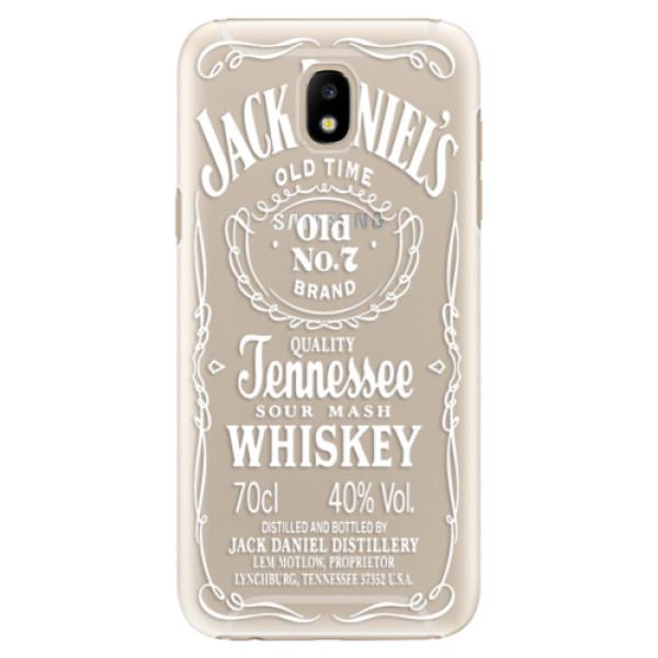 Plastové pouzdro iSaprio Transparentí White Jack na mobil Samsung Galaxy J5 2017 (Plastový kryt, obal, pouzdro iSaprio Transparentí White Jack na mobilní telefon Samsung Galaxy J5 2017)