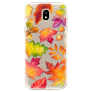 Plastové pouzdro iSaprio Autumn Leaves 01 na mobil Samsung Galaxy J5 2017