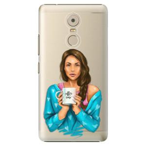 Plastové pouzdro iSaprio Coffee Now Brunetka na mobil Lenovo K6 Note