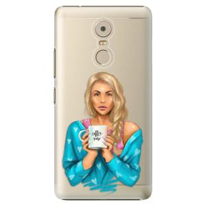Plastové pouzdro iSaprio Coffee Now Blondýna na mobil Lenovo K6 Note