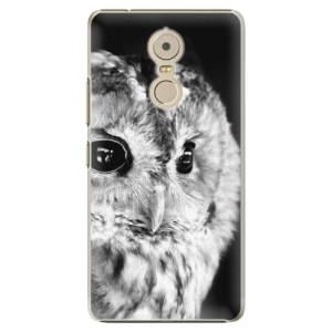 Plastové pouzdro iSaprio BW Sova na mobil Lenovo K6 Note
