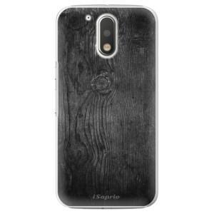 Plastové pouzdro iSaprio black Wood 13 na mobil Lenovo Moto G4 / G4 Plus
