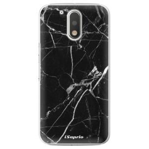 Plastové pouzdro iSaprio black Marble 18 na mobil Lenovo Moto G4 / G4 Plus
