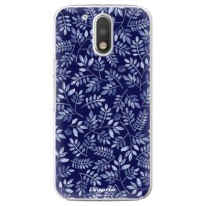 Plastové pouzdro iSaprio Blue Leaves 05 na mobil Lenovo Moto G4 / G4 Plus