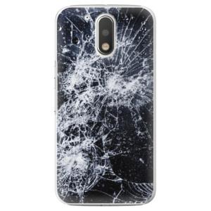 Plastové pouzdro iSaprio Praskliny na mobil Lenovo Moto G4 / G4 Plus