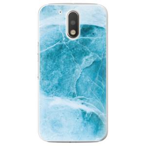 Plastové pouzdro iSaprio Blue Marble na mobil Lenovo Moto G4 / G4 Plus