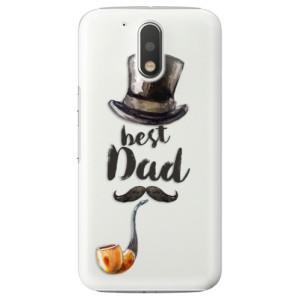 Plastové pouzdro iSaprio Best Dad na mobil Lenovo Moto G4 / G4 Plus
