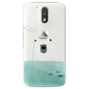 Plastové pouzdro iSaprio Bear With Boat na mobil Lenovo Moto G4 / G4 Plus