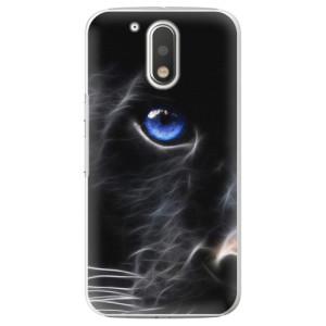 Plastové pouzdro iSaprio black Puma na mobil Lenovo Moto G4 / G4 Plus