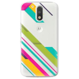 Plastové pouzdro iSaprio Barevné Pruhy 03 na mobil Lenovo Moto G4 / G4 Plus