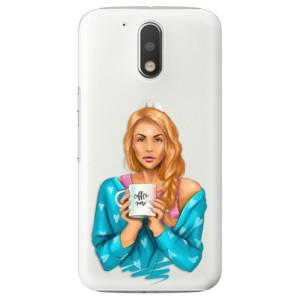 Plastové pouzdro iSaprio Coffee Now Zrzka na mobil Lenovo Moto G4 / G4 Plus