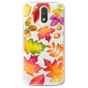 Plastové pouzdro iSaprio Autumn Leaves 01 na mobil Lenovo Moto G4 / G4 Plus