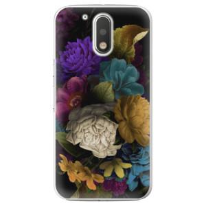 Plastové pouzdro iSaprio Temné Květy na mobil Lenovo Moto G4 / G4 Plus