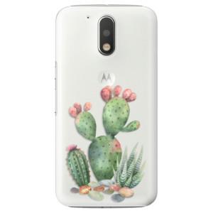 Plastové pouzdro iSaprio Kaktusy 01 na mobil Lenovo Moto G4 / G4 Plus