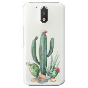 Plastové pouzdro iSaprio Kaktusy 02 na mobil Lenovo Moto G4 / G4 Plus
