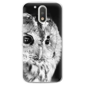 Plastové pouzdro iSaprio BW Sova na mobil Lenovo Moto G4 / G4 Plus