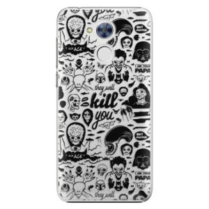 Plastové pouzdro iSaprio Komiks 01 black na mobil Honor 6A