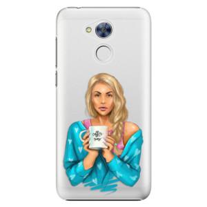 Plastové pouzdro iSaprio Coffee Now Blondýna na mobil Honor 6A