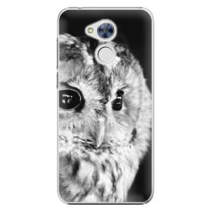 Plastové pouzdro iSaprio BW Sova na mobil Honor 6A