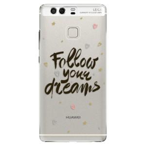 Plastové pouzdro iSaprio Follow Your Dreams černý na mobil Huawei P9