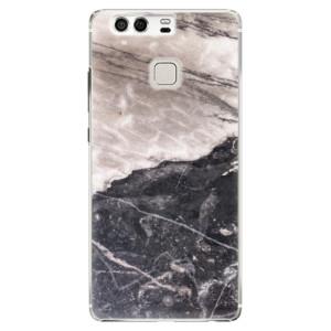 Plastové pouzdro iSaprio BW Marble na mobil Huawei P9