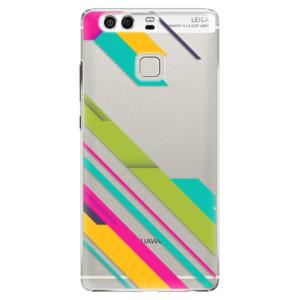 Plastové pouzdro iSaprio Barevné Pruhy 03 na mobil Huawei P9