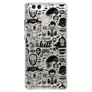 Plastové pouzdro iSaprio Komiks 01 black na mobil Huawei P9
