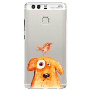 Plastové pouzdro iSaprio Pejsek a Ptáček na mobil Huawei P9