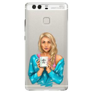 Plastové pouzdro iSaprio Coffee Now Blondýna na mobil Huawei P9