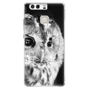 Plastové pouzdro iSaprio BW Sova na mobil Huawei P9